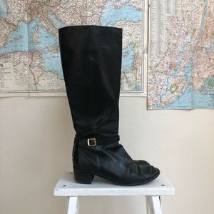 Salvatore Ferragamo tall leather boots 6.5 italy